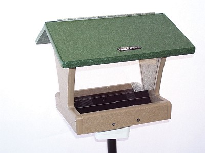 Birds Choice Recycled Plastic 4 Quart 2-Sided Hopper Feeder