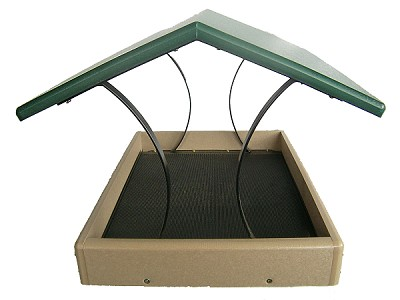 Birds Choice Large Recycled Plastic Fly-Through Bird Feeder