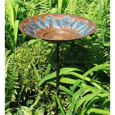 Achla Green Leaves Birdbath Large