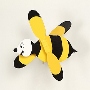 Classic Flying Bumble Bee Whirligig