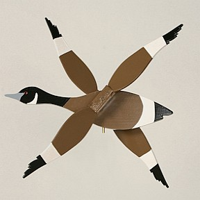 Classic Flying Canadian Goose Whirligig