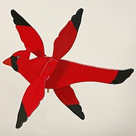 Classic Flying Cardinal Whirligig