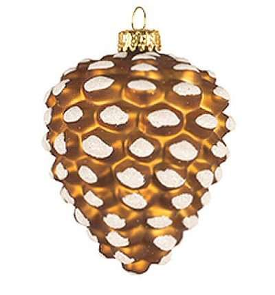 Pinecone Brown Blown Glass Ornament