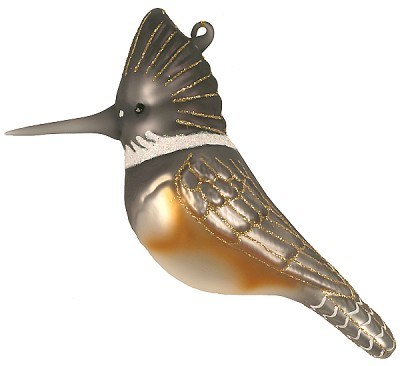 Cobane Studio Kingfisher Blown Glass Ornament