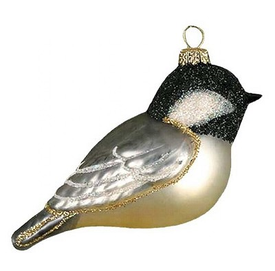 Cobane Studio Black-Capped Chickadee Blown Glass Ornament