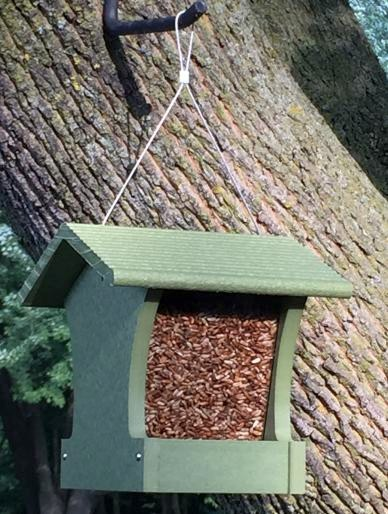 Green Solutions Recycled Plastic Small Hopper Bird Feeder Kit