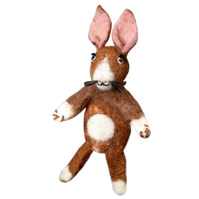 Wild Woolies Rabbit Finger Puppet Ornament