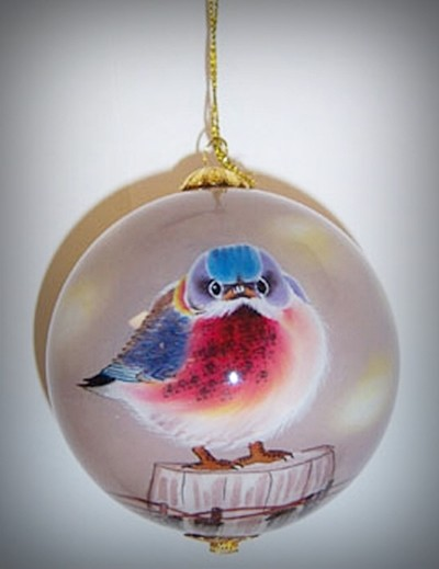 Mad Bluebird Ornament