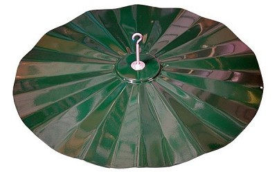 "Hanging Disk Squirrel Baffle 21"" Diameter Green"