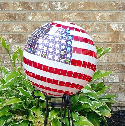 Stars and Stripes Mosaic Gazing Globe 10""