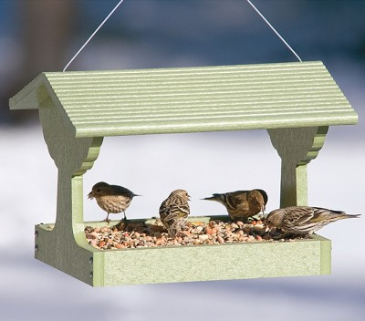 Green Solutions Recycled Plastic Fly-Through Bird Feeder