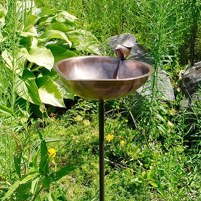 Achla Heart Shaped Birdbath