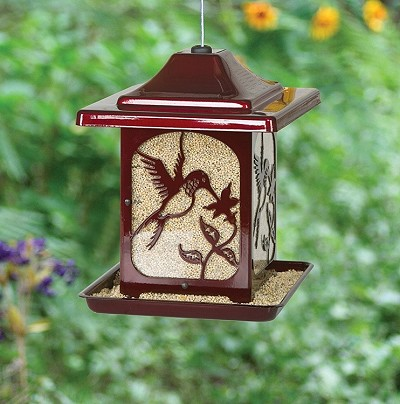 Classic Hummingbird Jolly Pop Red Bird Feeder