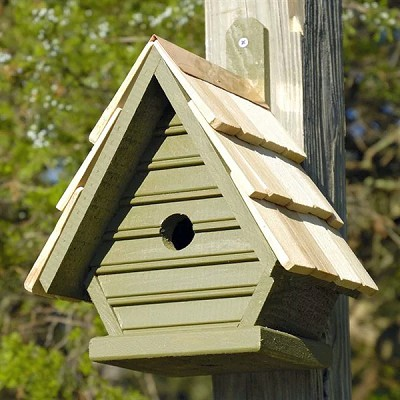 Chick Shake Shingle Birdhouse Pinion Green