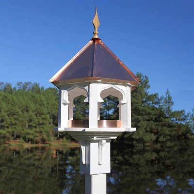 Carousel Cafe Bird Feeder Bright Copper Roof