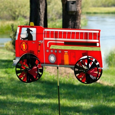 Fire Truck Wind Spinner 24""