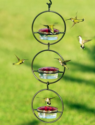 Triple Sphere Hummingbird Feeder