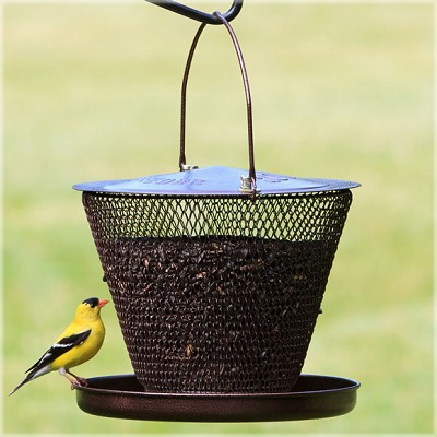 NO/NO Bronze Single Tier Mesh Bird Feeder with Tray