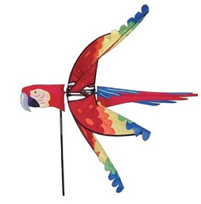 Flying Scarlet Macaw Wind Spinner Large