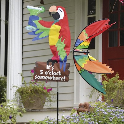 Island Parrot Wind Spinner Large 37""