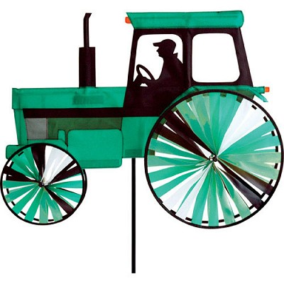 Modern Farm Tractor Spinner Medium Green