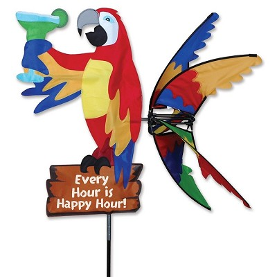 Island Parrot Wind Spinner Large 33""