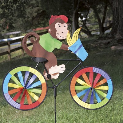 Monkey Bicycle Wind Spinner Large