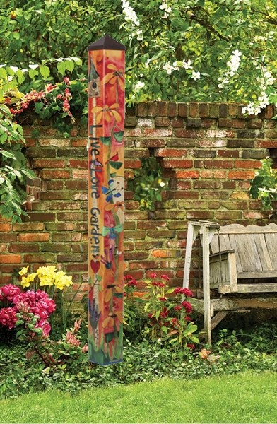 6 ft. Art Pole 5x5 Love Garden