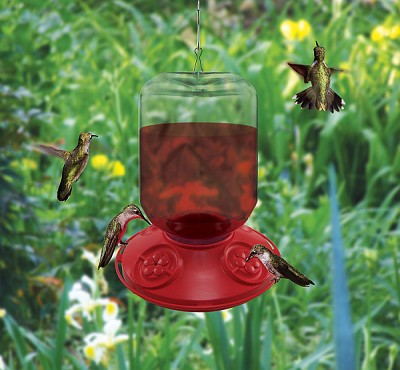 Dr. JB's Switchable 48 oz Hummingbird Feeder