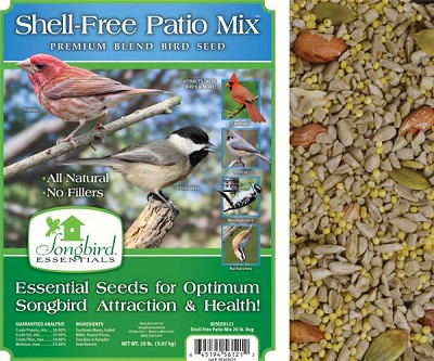 Songbird Essentials Shell-Free Patio Mix Bird Seed 5#
