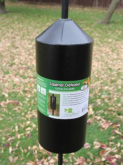 Squirrel Defeater Cylinder Pole Baffle 15""
