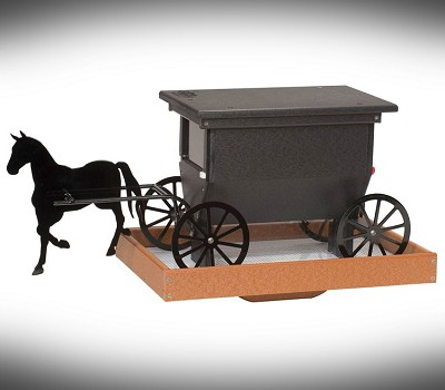 Amish Recycled Poly Horse and Buggy Feeder