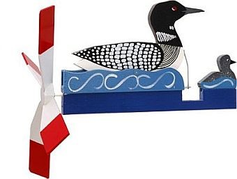 Classic Loon with Baby Whirligig